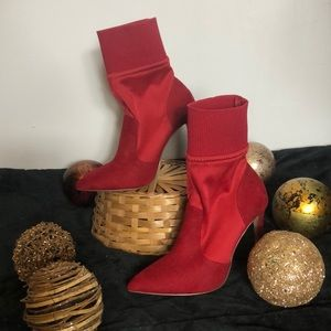 *New- Red Ankle boots